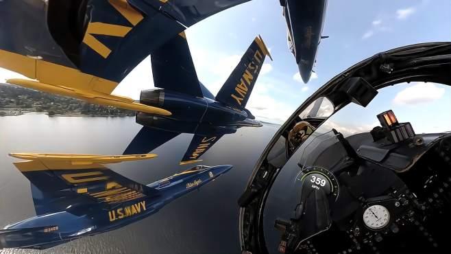 驾驶飞机什么感觉?让我们跟美国蓝色天使表演队一起体验一下