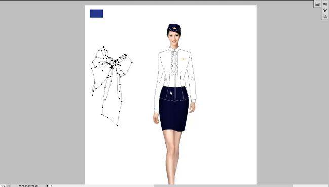 双排扣空姐服设计-米兰弘.mp4