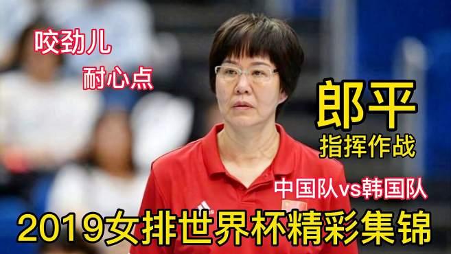 给球质量高点郎平现场指挥中国队3比0赢韩国队2019世界杯集锦回顾