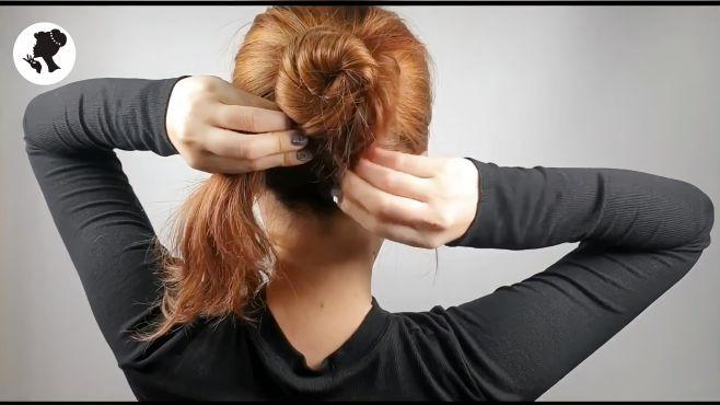 1分钟快速教你学会扎头发,简单大方又时尚