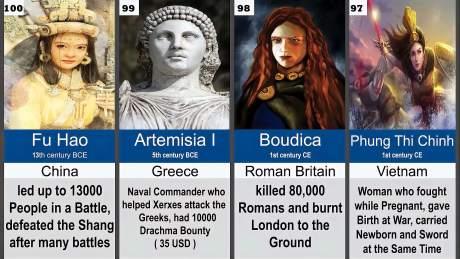 「冷门知识」世界历史上最为强悍的100位女性指挥官