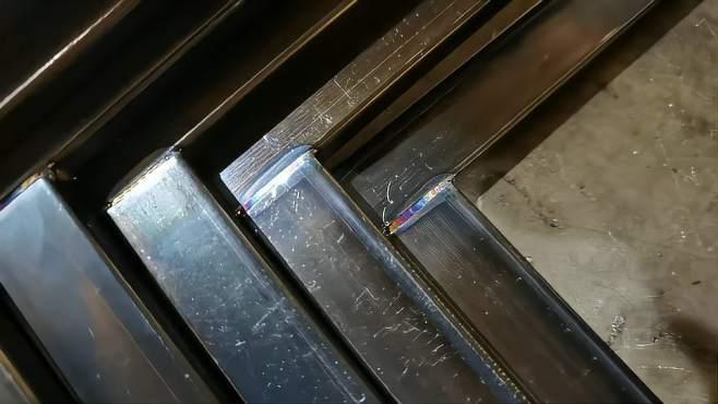 极小碳钢方管焊接成品展示,手持激光焊接机焊接