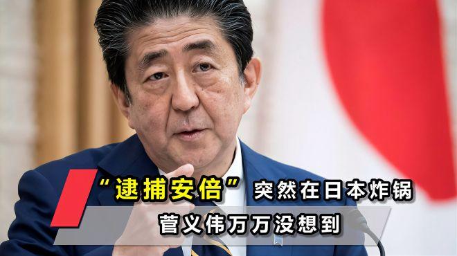 """这次谁也拦不住,""""逮捕安倍""""突然在日本炸锅,菅义伟万万没想到"""