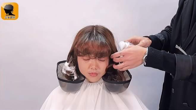 2021必火的烫发技巧,缩毛矫正烫,这样烫的发型自然健康又好看
