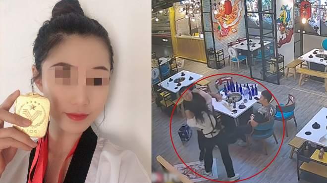 两醉汉调戏火锅店老板娘反被殴,当事人:视频是摆拍但确有其事