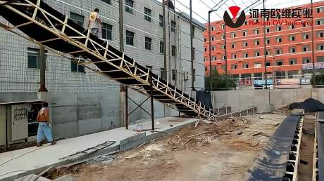 欧维实业 - 广西柳州时产200吨砂石骨料生产线安装现场