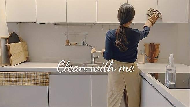 每天20分钟,家庭主妇教你维持洁净厨房的清扫好方法