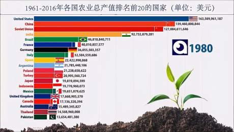 2021可能发生粮食危机,我们看看各国近些年的农业总产值排名