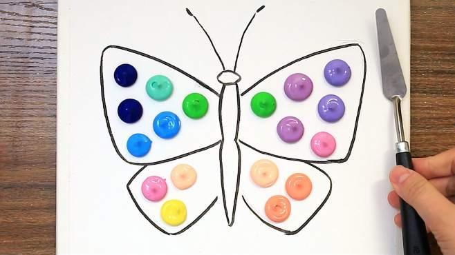 【丙烯画】手绘蝴蝶和花,花香引蝶来