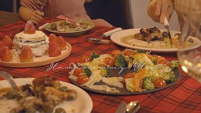 治愈Vlog|圣诞特别晚餐|韩国的初雪|茶袋绘画