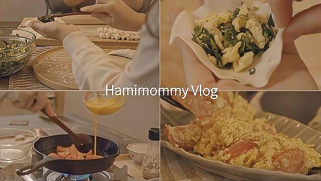 治愈Vlog|滑雪橇|韭菜馅饺子|木须柿子