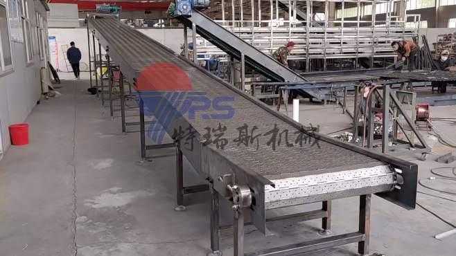超长链板提升机-清洗沥水链板输送机线
