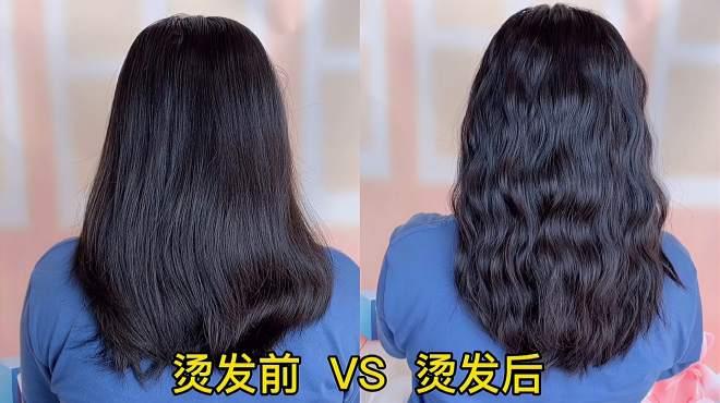 如何用卷发棒烫一次性的头发?