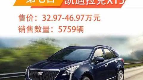 9月高端SUV销量排行TOP10:探险者杀进第八