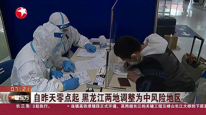 黑龙江两地升为高风险