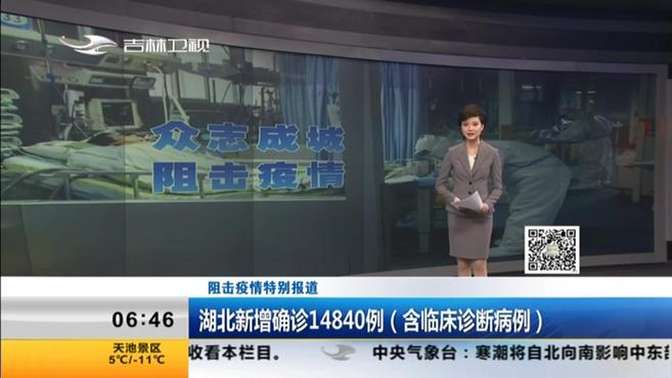 阻击疫情特别报道:湖北新增确诊14840例(含临床诊断病例)