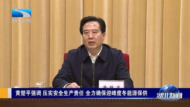 黄楚平强调 压实安全生产 全力确保迎峰度冬能源保供丨武汉